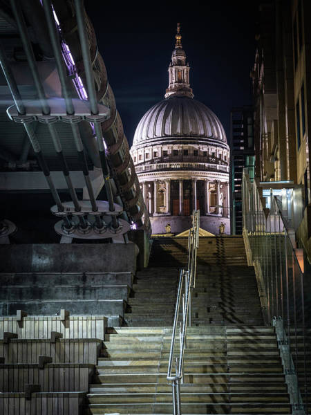 Photograph - Step Up To St Paul's by Framing Places