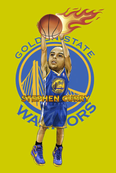 75c7582b6 Basketball Player Drawing - Stephen Curry T Shirt by Jose Lugo