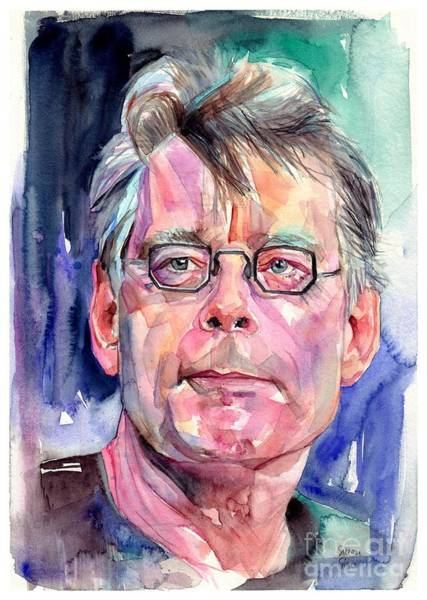 Wall Art - Painting - Stephen King Portrait by Suzann Sines