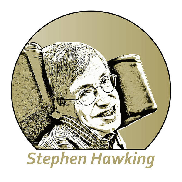 Wall Art - Digital Art - Stephen William Hawking by Greg Joens