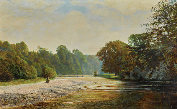 Wall Art - Painting - Stepping Stones Bolton Abbey, 1868 by John Atkinson Grimshaw