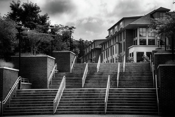 Catamount Photograph - Stepping Up At Wcu In Black And White by Greg and Chrystal Mimbs