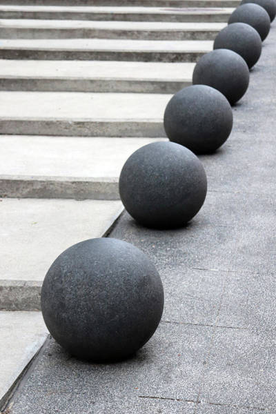 Wall Art - Photograph - Steps And Balls Sculpture by David T Wilkinson
