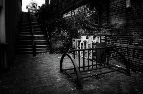 Wall Art - Photograph - Steps Up On Wall Street In Black And White by Greg and Chrystal Mimbs