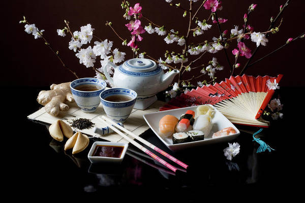 Tea Photograph - Stereotypical Japanese Culture And Food by Ragnar Schmuck