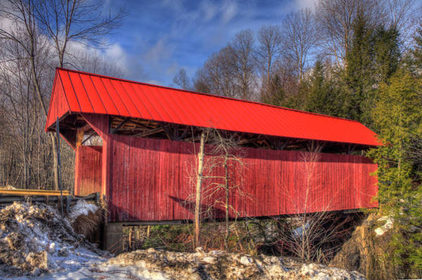 Photograph - Sterling Covered Bridge - Stowe, Vt by Joann Vitali