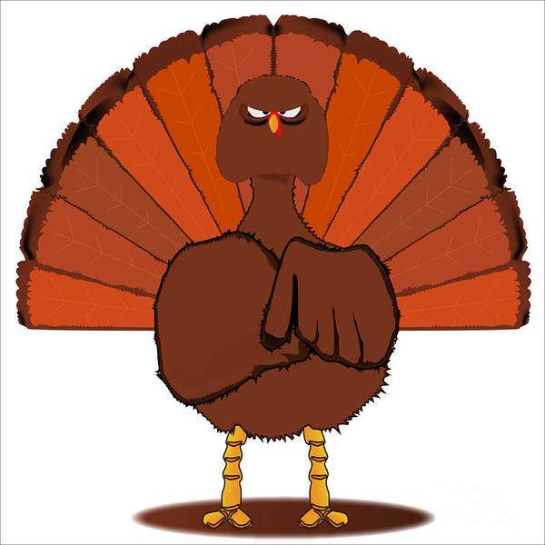 Thanksgiving Dinner Digital Art - Stern Christmas Turkey. by Bigalbaloo Stock