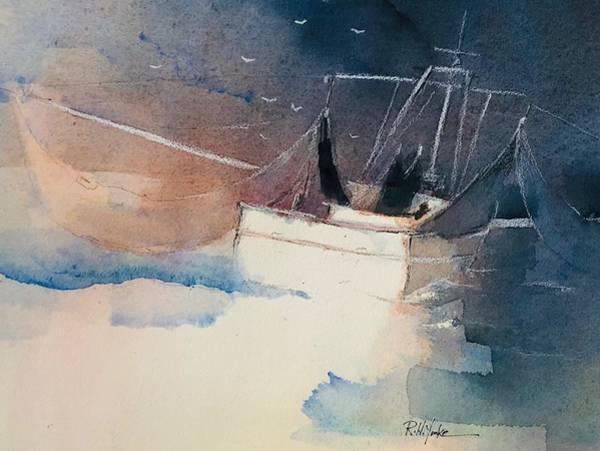 Shrimp Painting - Stern View by Robert Yonke