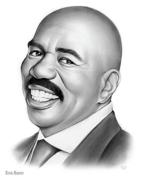 Wall Art - Drawing - Steve Harvey 2 by Greg Joens