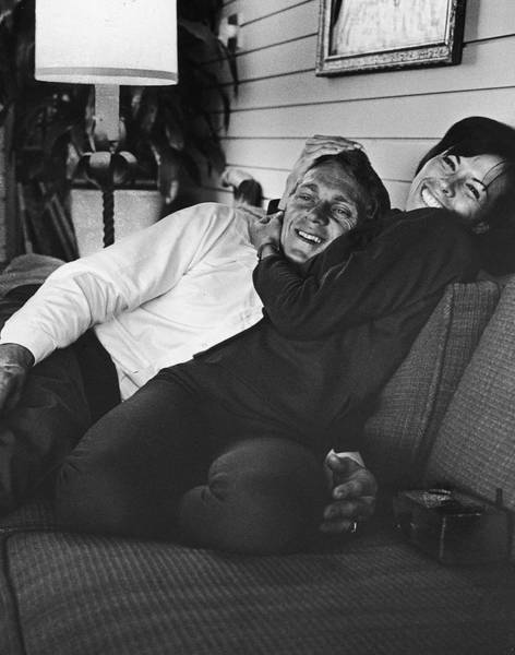 Steve Mcqueen Photograph - Steve Mcqueen & Wife by John Dominis