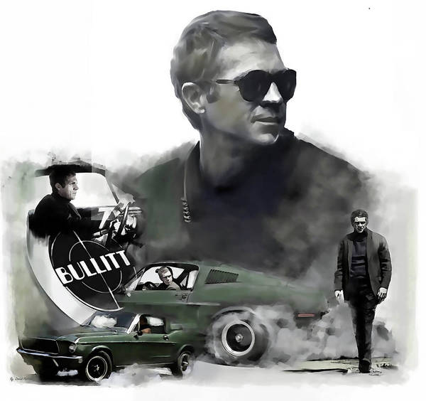 Wall Art - Painting - Steve Mcqueen 50 Bullitt by Iconic Images Art Gallery David Pucciarelli