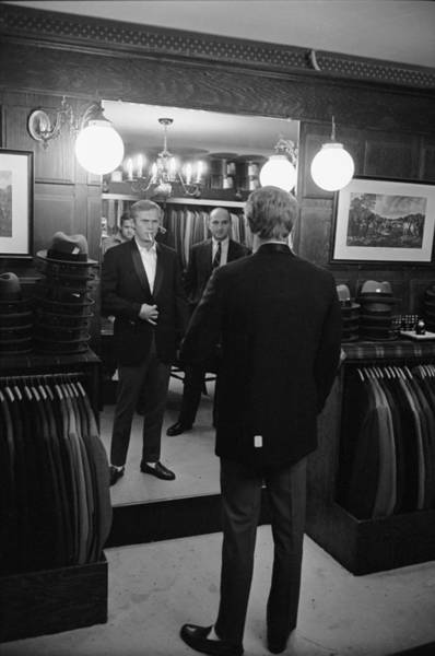Suit Photograph - Steve Mcqueen Shops For Suits by John Dominis