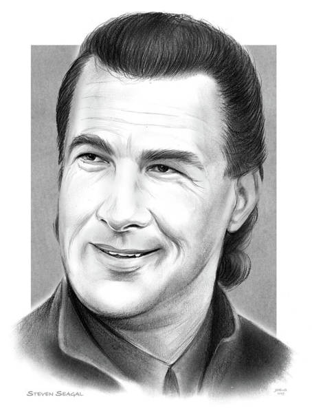 Wall Art - Drawing - Steven Seagal by Greg Joens