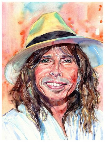 Wall Art - Painting - Steven Tyler Portrait by Suzann Sines