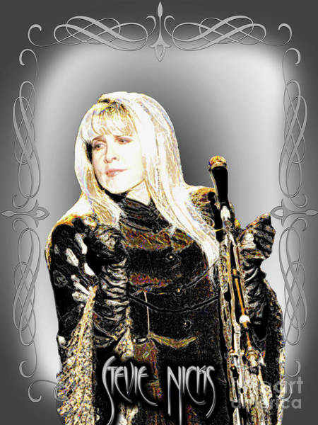 Stevie Nicks Digital Art - Stevie - Mystical Queen by Lutz Roland Lehn