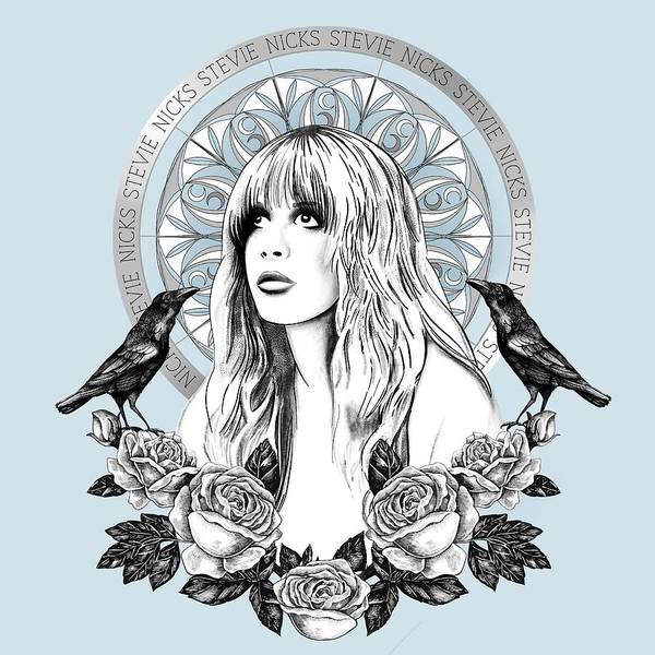 Wall Art - Painting - Stevie Nicks Angel Of Dreams Icon by Little Bunny Sunshine