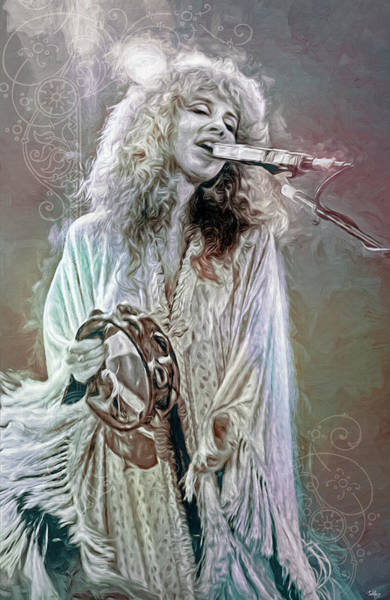 Wall Art - Mixed Media - Stevie Nicks by Mal Bray
