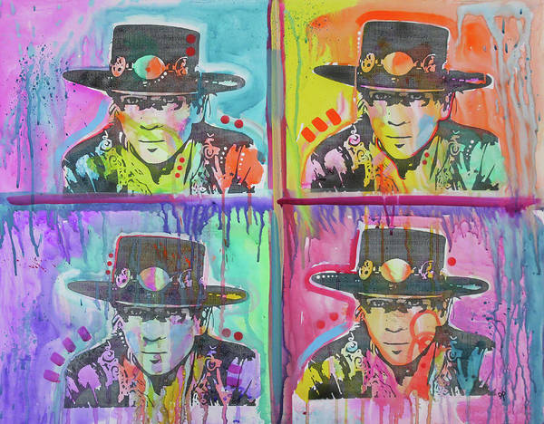 Wall Art - Painting - Stevie Ray 4x by Dean Russo Art