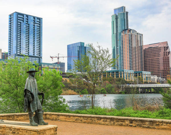 Photograph - Stevie Ray Vaughan Statue Austin Texas by Dan Sproul