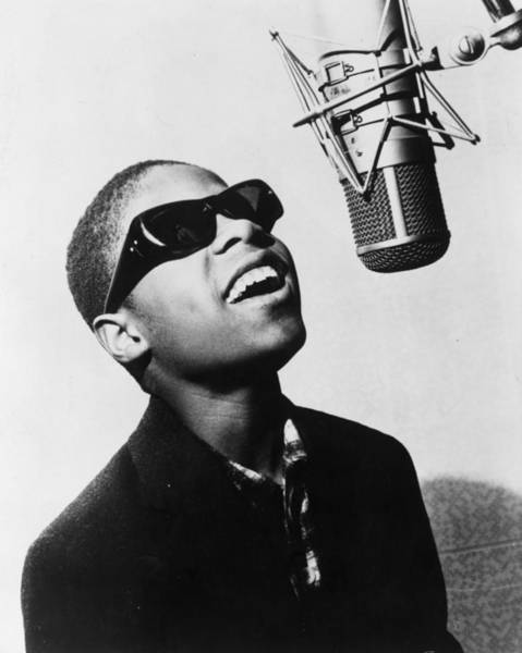 American Culture Photograph - Stevie Wonder by Evening Standard