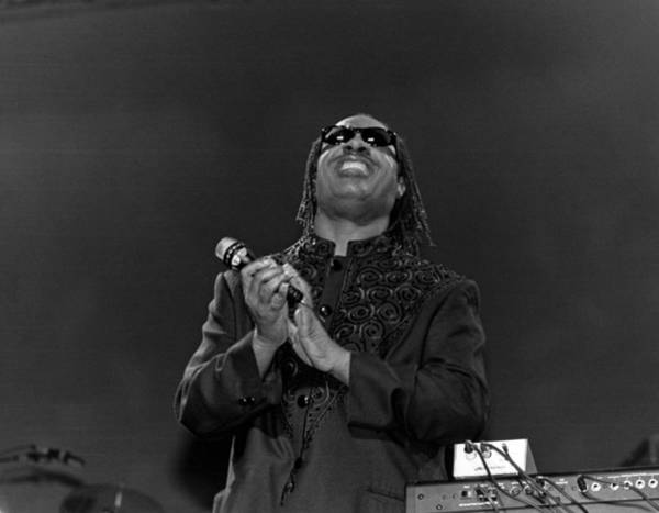 Soul Music Photograph - Stevie Wonder Live In Concert by Raymond Boyd