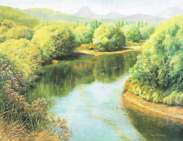 Painting - Sth Island River. by Val Stokes
