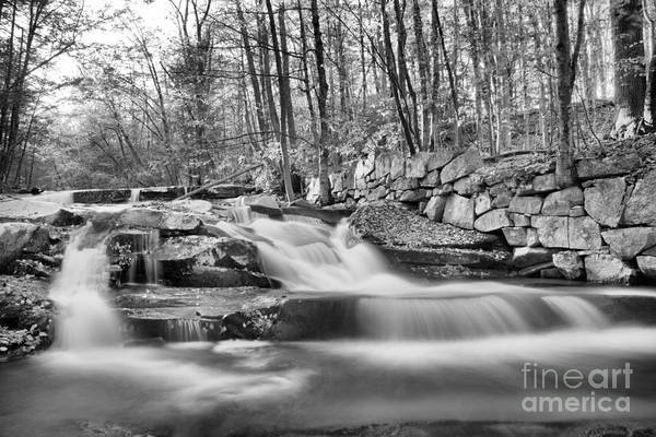 Photograph - Stickeny Brook Falls Black And White by Adam Jewell