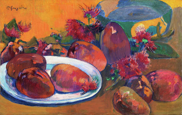Wall Art - Painting - Stil Life With Mangos - Digital Remastered Edition by Paul Gauguin