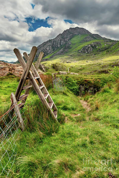 Ladders Photograph - Stile To Tryfan Mountain by Adrian Evans