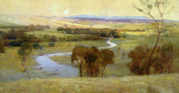 Wall Art - Painting - Still Glides The Stream, And Shall For Ever Glide - Digital Remastered Edition by Arthur Streeton