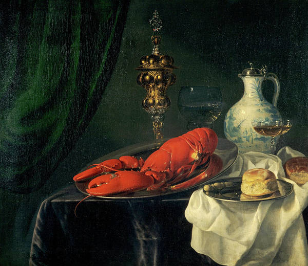 Wall Art - Painting - Still-life, 1650s by Simon Luttichuys