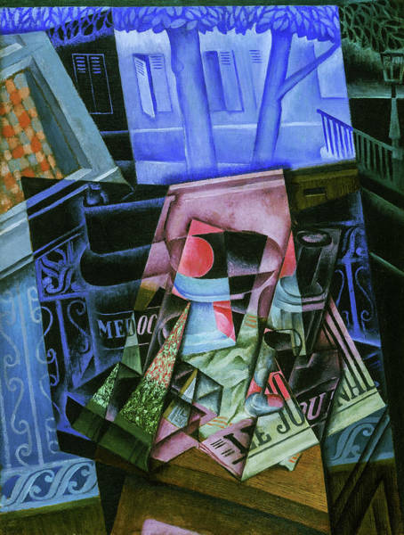 Wall Art - Painting - Still Life Before An Open Window, Place Ravignan, 1915 by Juan Gris