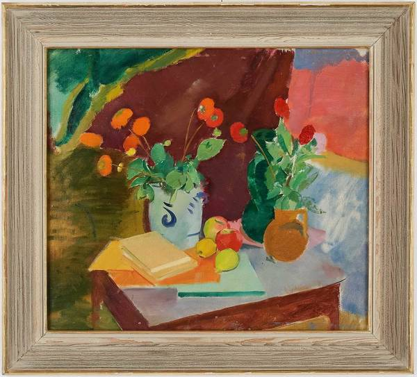 Wall Art - Painting - Still Life By Karl Isakson 1878-1922 by Karl Isakson