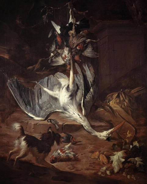Wall Art - Painting - Still-life - Dead Game, 1677 by William Gouw Ferguson