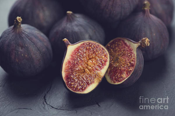 Raw Wall Art - Photograph - Still Life Fruits Ripe Figs, Close-up by Nickola che