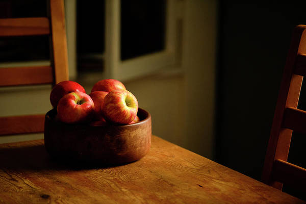 Wall Art - Photograph - Still Life Of A Wooden Bowl Full by Panoramic Images