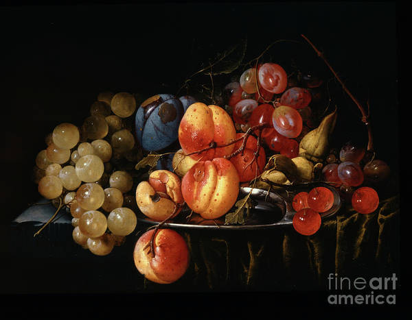 Wall Art - Painting - Still Life Of Fruit By De Heem by Cornelis de Heem