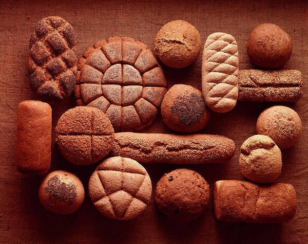 Sunflower Seeds Photograph - Still Life Of Organic Breads Corn, Spro by Henry Groskinsky