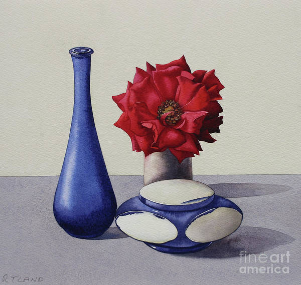 Wall Art - Painting - Still Life Red Rose by Christopher Ryland