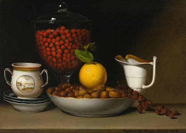 Wall Art - Painting - Still Life - Strawberries, Nuts, Etc by Raphaelle Peale