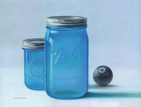 Wall Art - Painting - Still Life With 8-ball by Norb Lisinski