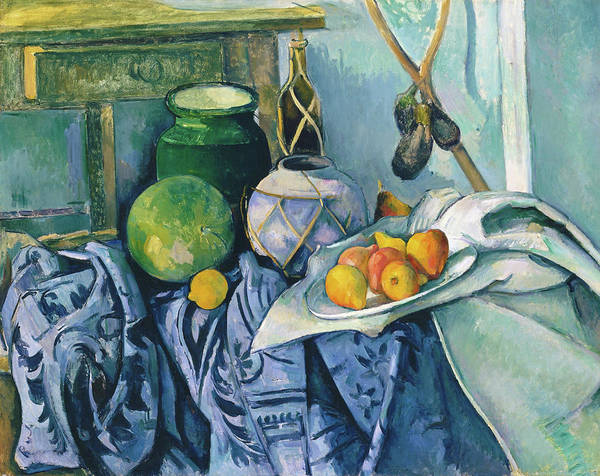 Wall Art - Painting - Still Life With A Ginger Jar And Eggplants - Digital Remastered Edition by Paul Cezanne
