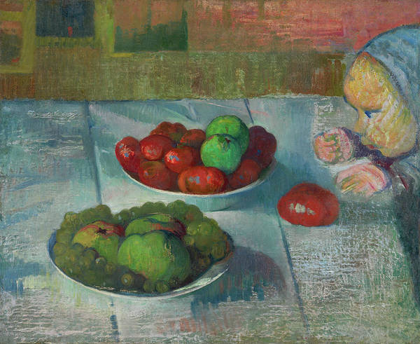 Meijer Painting - Still Life With A Profile Of Mimi by Meijer de Haan