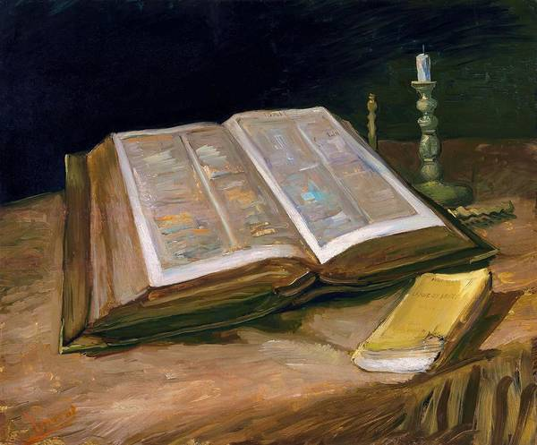 Wall Art - Painting - Still Life With Bible - Digital Remastered Edition by Vincent van Gogh