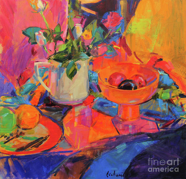 Wall Art - Painting - Still Life With Bloomingdales Bowl by Peter Graham