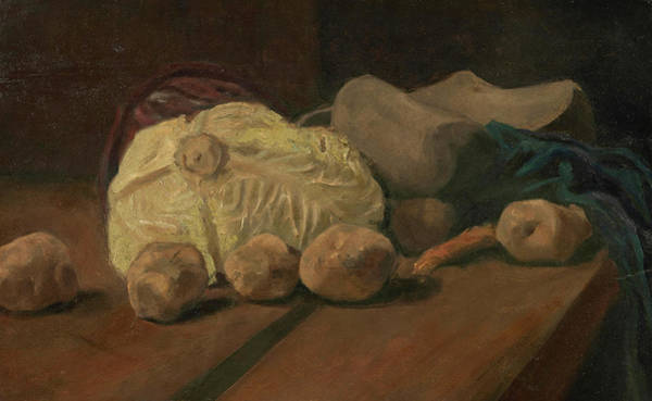 Potato Painting - Still Life With Cabbage And Clogs by Vincent Van Gogh