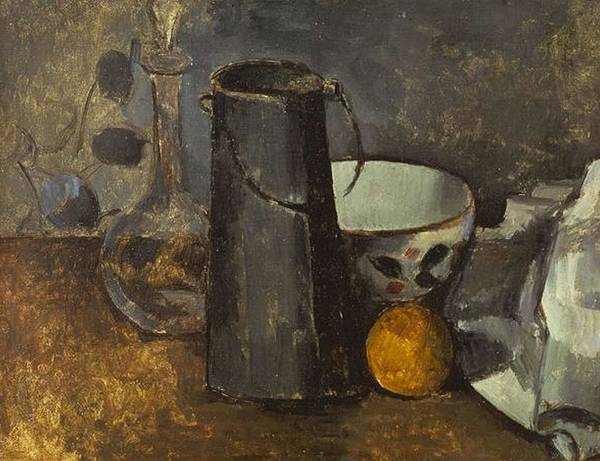 Wall Art - Painting - Still Life With Carafe  by Paul Czanne