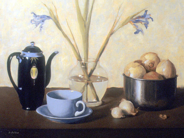 Made In Japan Wall Art - Painting - Still Life With Faded Iris by Robert Holden