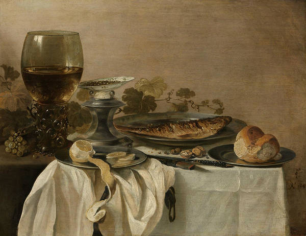 Painting - Still Life With Fish by Pieter Claesz