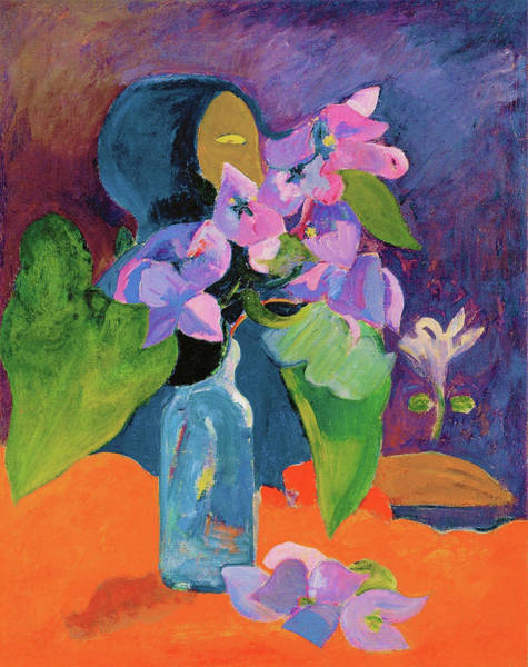 Wall Art - Painting - Still Life With Flowers And Idol - Digital Remastered Edition by Paul Gauguin